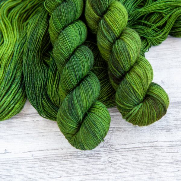 two skeins of yarn in the colorway 'Nessie'